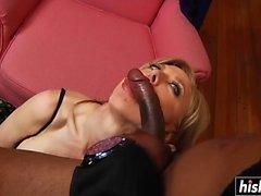 Amazing MILF takes a big black cock