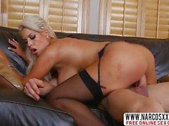 Enchanting Aunt Bridgette B In Stockings Wants Mega Sex