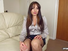 Shiny blouse milf is an upskirt expert
