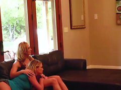 Brunette teen and two blonde MILFs
