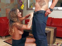 Heavy cock for Nadia Styles wet MILF pussy