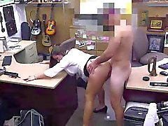 Amateur MILF fucked on spy cam for pawn cash