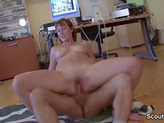 Redhead Mom Seduce to Fuck in front of camera by Stranger