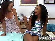 Hot ebony teen fucked hard by MILF