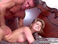 Milf in pink is anal addict as she first