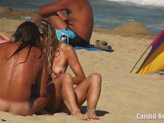 Hot Amateur Horny Milfs Tanning Naked Nudist Beach Voyeur