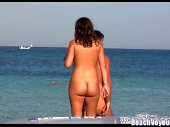 Hot Pussy Milfs Tanning Naked at Nudist Beach - Voyeur HD