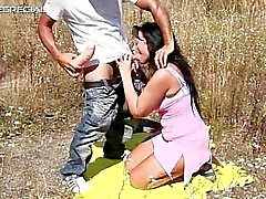 Horny MILF gets fucked hard outdoor part4