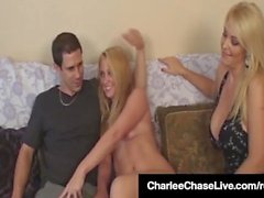 Naughty Wife Charlee Chase Watches & Lets Hubby Fuck Her BF!