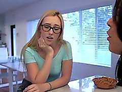 Stepmom Diamond gets caught wanking off