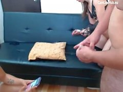 hot best friends hump hard on asian dick two