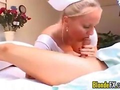 Blonde Nurse Sucking On A Patients Cock POV