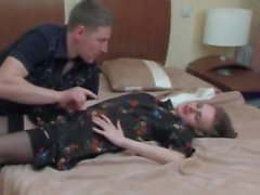 STP Horny Son Watches Sexy Mom Dress Then Takes Her !