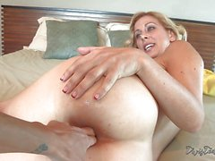 Cute MILF Cherie Deville gets anal played from Dana