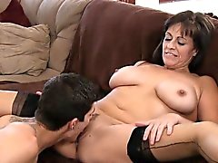 Cock loving mom gets her dark hole rammed and creampied