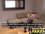 Fake Agent UK Amateur big tits MILF sucks cock
