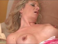 Big breasts milf eaten out by a horny guy