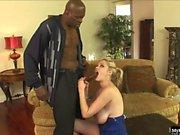 Busty blonde, Katie Kox, oils up her massive tits and...