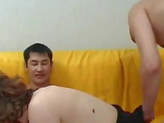 Horny MILF gets DPed by two guys