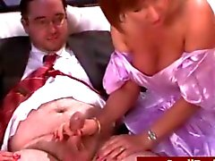 Milf femdoms laugh at grooms tiny cock