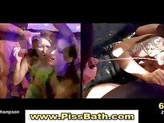 Golden shower piss fetish slut