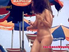 Blonde Hot Trimmed Pussy Nudist Beach Milfs SpyCam