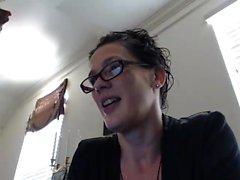 Sexy brunette MILF teases her stuff on webcam