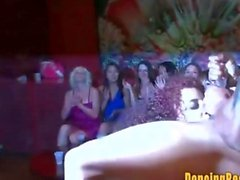 Crazy Redhead gets a Big Facial at the Stripclub