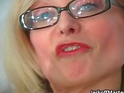 Sexy MILF Nina Hartley stripping part6
