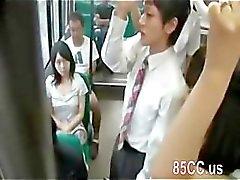horny milf blowjob stranger on bus