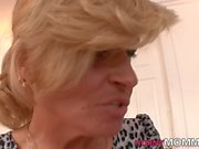 Mature stepmom in 3way