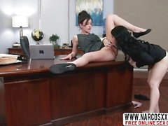 Delicate Not-Mother Jennifer White And Noelle Easton In Threesome