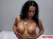 Big tits milf casting and cumshot