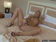Horny MILF Masturbates On The Bed