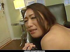 Reiko Kobayakawa endures fat dick in her creamy pussy