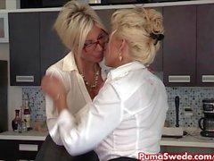 Puma Swede & Bobbi are the Lesbian Office Slu