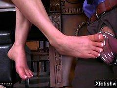 Hot pornstar foot and cumshot