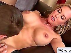 Hot Brandi love in black lingerie fucked