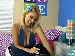 Blonde MILF Giving Him Head On The Bed