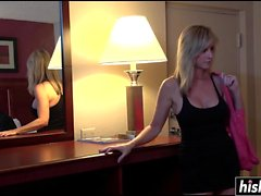 Slutty girl pounded in her hotel room