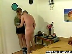 Amateur Milf home action with cum in mouth