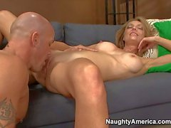 Slender MILF Brenda gets drilled from behind by Derrick