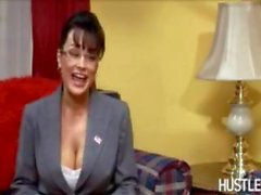 sexy secretary palin banged by two russians