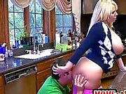 Molly busted Mrs Fisher sucking her BF