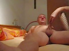 Mature amateur wife blowjob with anal creampie