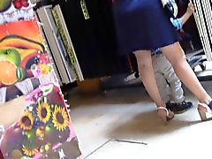 upskirt big ass MILF