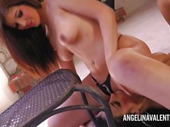 Angelina Valentine loves teasing babe Brittany Sexton