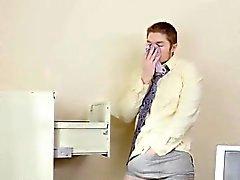 Silvia Saige Catches Horny Employee In Her Office