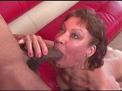 Horny milf Vanessa tries really big black cock