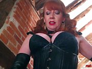 Kinky Redheaded Mistress Plays With Her New Toy
